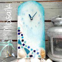 Uhrenbasteln mit Mosaik-Steinen ★ wir haben Tips wie das einfach funktioniert ★ was man braucht und wie man es am besten macht ★ zu dieser Mosaik-Uhr in türkis- und blau-tönen inklusive Anleitung geht es hier: http://kreativ-zauber.de/mosaik/