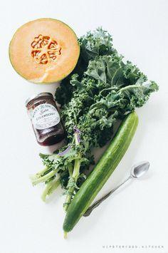 daily smoothie: green cantaloupe