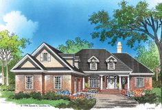 Country House Plan with 2024 Square Feet and 3 Bedrooms from Dream Home Source | House Plan Code DHSW41564