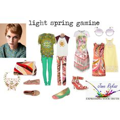 light spring gamine by expressingyourtruth on Polyvore featuring moda, Emilio Pucci, OBEY Clothing, LAUREN MOSHI, Kate Spade, Christian Dior, Miu Miu, women's clothing, women's fashion and women