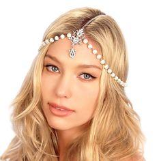 Draping Pearls Chain Headpiece