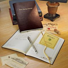 Wine Enthusiast Leather-Bond Wine Tasting Journal from HSN