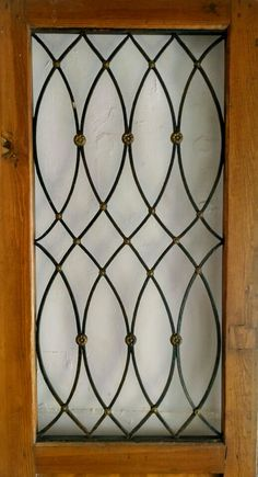 Puerta de madera con hierro. Museo de arte moderno. Guanajuato Window Grill Design Modern, Grill Door Design, Main Door Design, House Front Design, Window Design, Grill Gate, Door Grill, Railing Design, Gate Design