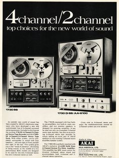 1971 ad for Akai reel to reel tape recorders in Reel2ReelTexas.com's vintage recording collection