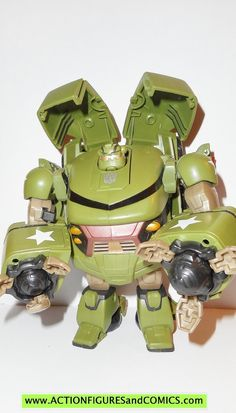 Hasbro/takara toys action figures for sale to buy TRANSFORMERS: ANIMATED 2008 BULKHEAD (voyager class) 100% COMPLETE Condition: Excellent - nice paint, nice joints - absolutely nothing broken, damaged