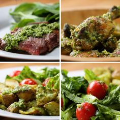 Easy Chimichurri Sauce Recipe by Tasty Sauce Recipes, Beef Recipes, Mexican Food Recipes, Chicken Recipes, Cooking Recipes, Healthy Recipes, Chicken Wing Sauces, Skirt Steak Recipes, Cooking Pasta