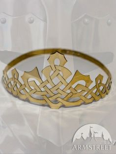 Medieval Handmade Brass Crown Celtic Pattern