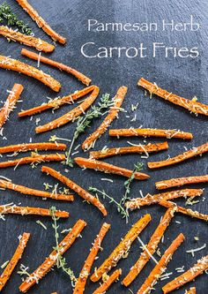 Parmesan and Herb Carrot Fries from The Scrumptious Pumpkin @The Scrumptious Pumpkin