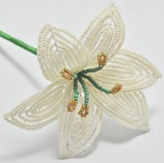 french beaded calla lily patterns | lily £ 15 french beaded lily designed and handcrafted by bead flowers ...