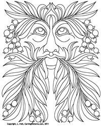 free Oak Leaf Wood Carving Patterns | Leaf Eater pattern pack - download