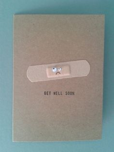 Items similar to Get Well Soon Plaster Card, Personalised. on Etsy Handmade Get Well Soon card Cute Cards, Diy Cards, Tarjetas Diy, Ideias Diy, Creative Cards, Scrapbook Cards, Scrapbook Titles, Homemade Cards, Envelopes