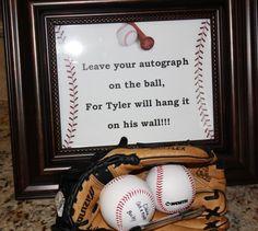 Tyler's 10th birthday we had all the boys sign a baseball as a keepsake for him.