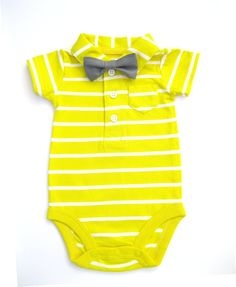 Bow tie onesie. He'll prob kill me one day but this is adorable especially if he has a full head of dark hair lol