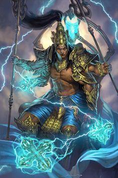 Indra-God of Thunder by DiegoGisbertLlorens.deviantart.com on @DeviantArt