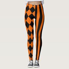 Striped Leggings, Black Leggings, Halloween Patterns, Clothing Patterns, Stripes Clothing, Halloween Outfits, Halloween Halloween, Pattern Mixing, Leggings Fashion