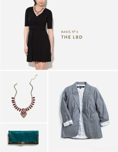 How to Style Your Basic Little Black Wrap Dress
