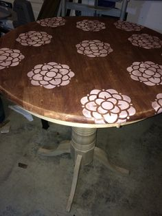 Rough pic of a new project I am working on.  Stain over chalk paint