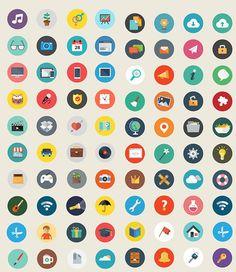 フラットデザインの無料アイコンセットまとめ Icon Design, Flat Design Icons, Logo Design, Graphic Design, Social Icons, Icon Collection, Business Icon, App Icon, Flat Illustration