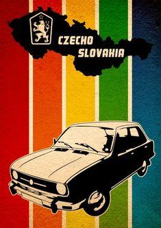 Similk's Czechoslovakia Car Retro Design, www. Classic Motors, Classic Cars, Vintage Ads, Vintage Posters, Vintage Travel, Car Posters, Audi, Car Advertising, Retro Design