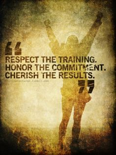 Respect the training always...