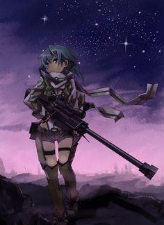 Sword Art Online | A-1 Pictures | Reki Kawahara | abec / Sinon / anime girl art