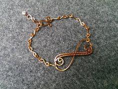 infinity bracelet - How to make wire jewelery 152 - YouTube
