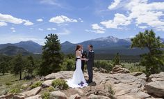 A Romantic Elopement at 3M Curve overlooking Moraine Park in Rocky Mountain National Park, Estes Park Colorado by Marry Me In Colorado.