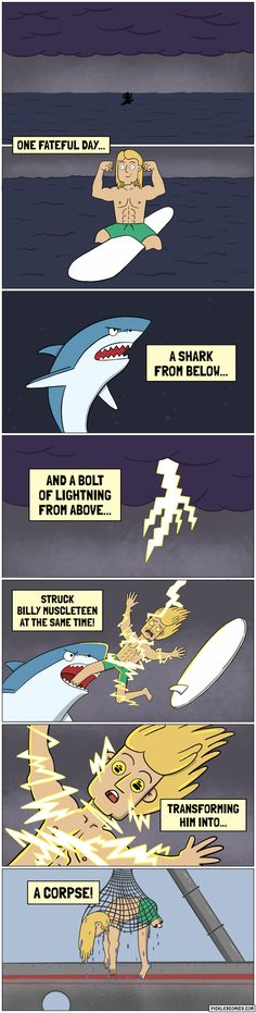 Poor Billy Muscleteen Never Had a Fighting Chance!