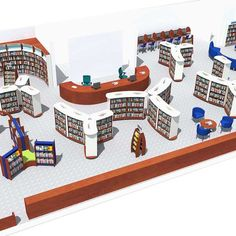 Library Design Service School Library Displays, Home Library Design, Library Inspiration, Library Shelves, Shelving Systems, 3d Visualization, Water Tower, Ivoire, Design Consultant