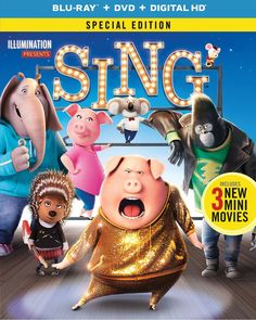 """Want to win Blu-ray/DVD/Digital HD """"SING""""? I just entered to win and you can too. http://gvwy.io/zzlcve4"""