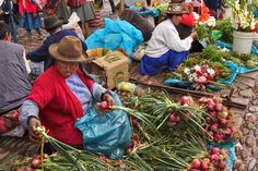 Market in Pisac, in the Sacred Valley of Peru, is Famous for Fresh Fruits and Vegetables