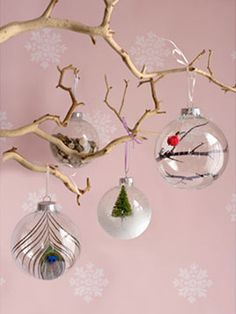 Snow globe/cloche Christmas ornaments