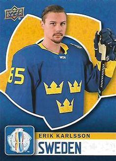 2016 Upper Deck - World Cup of Hockey  WCH-36 Erik Karlsson Front Hockey 82bdab432