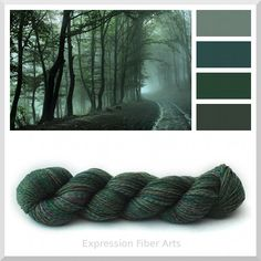 New EMERALD FOREST green superwash merino wool sock yarn. Limited Edition!