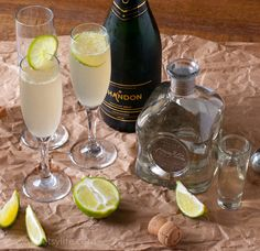Champagne Margarita Cocktails for national Margarita Day Cocktails, Party Drinks, Cocktail Drinks, Fun Drinks, Non Alcoholic Drinks, Cocktail Recipes, Beverages, Tequila, Champagne Margaritas
