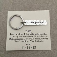 Father of the Bride Gift from Bride Father of by WearableWhispers (Diy Wedding Favors) Gifts For Wedding Party, Wedding Wishes, Fall Wedding, Diy Wedding, Wedding Favors, Dream Wedding, Wedding Rings, Wedding Ceremony, Wedding Gifts For Parents