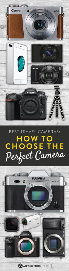 Best Travel Cameras | Recommendations on the best mirrorless, point and shoot, action, or DSLR camera to take traveling with you.
