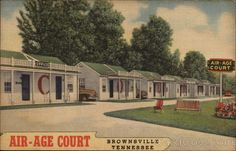 Brownsville TN Air-Age Court On US Highways 79 and 70A. 60 miles north of Memphis, it is cool, quiet, clean and comfortable; plenty of room for children to play