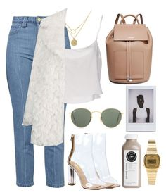 """🤙🏼"" by burcaak ❤ liked on Polyvore featuring Topshop, Anna + Nina, Dogeared, Jean-Paul Gaultier, Michael Kors, Casio, Ray-Ban, StreetStyle and fur"