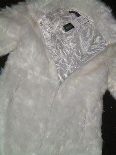 Items similar to vintage faux fur coat white size L funky long coat on Etsy Narnia Costumes, White Faux Fur Coat, White Witch, 1990s, Trending Outfits, Vintage, Etsy, Vintage Comics