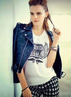 ☆ Rock 'n' Roll Style ☆ Emma Watson on the August 2013 cover of Teen Vogue