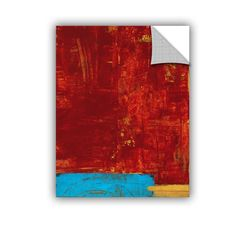 ArtWall ArtAppealz Elena Ray 'Red Abstract' Removable Wall Art