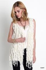 Vanilla Soft Fringe Vest