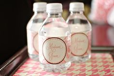 DIY (free) printable water bottle labels