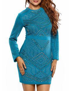 Rhinestone Mini Bodycon Dress