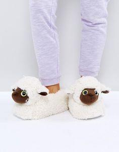 Loungeable Lamb Slipper - Cream