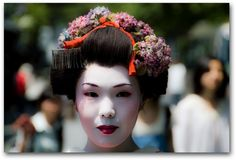 "Geisha in Kyoto From the Road Forks.  I think this is should be captioned, ""not a hair out of place""."