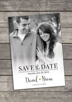 Save The Date  Photo Announcement  Custom Printable  by bitofpixie