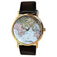 #Dresslily - #Dresslily Map Patterned Watch with Round Dial and Leather Watch Band for Women - AdoreWe.com