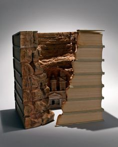 The Carved Book Landscapes of Guy Laramée
